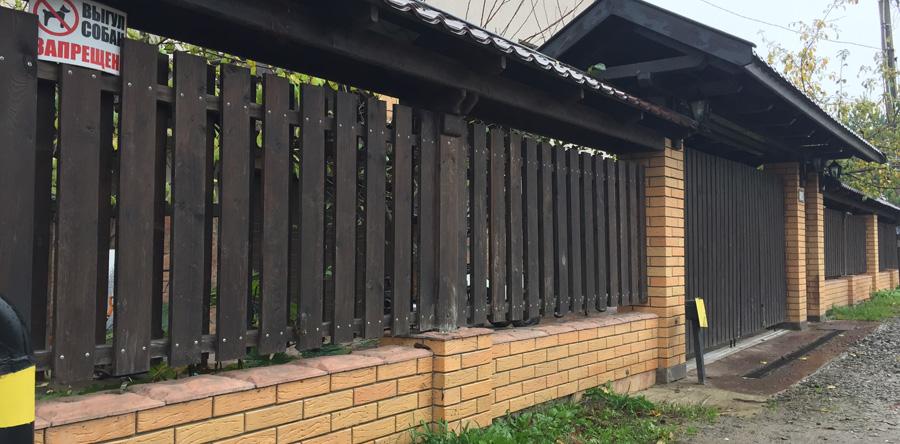 Купить кирпичный забор