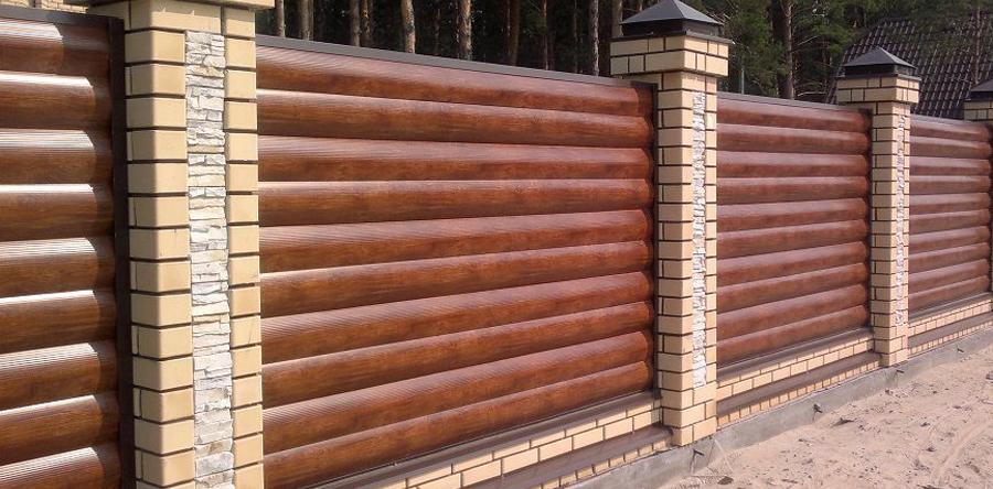 Купить забор из металлического сайдинга