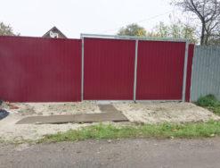 Забор, калитка и ворота из профнастила