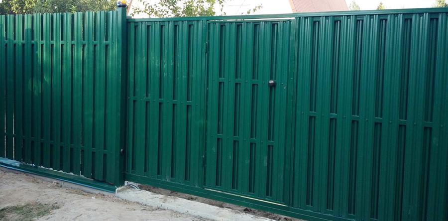 Купить откатные ворота под ключ в Москве