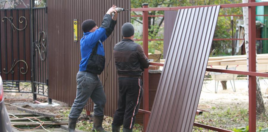 Установка заборов в Краснозаводске