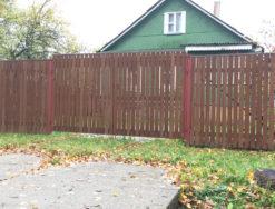 Забор и ворота из деревянного штакетника